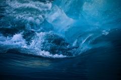 tumbling iceberg Jökulsarlon lake Iceland
